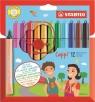Flamastry Stabilo Cappi etui 12 kolorów