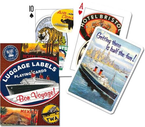 Piatnik, karty do gry, 1 talia, Luggage Labels Piatnik