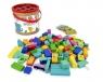 Klocki drewniane kolorowe 100 elementów z sorterem