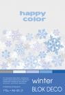 Blok deko winter A5 170g 20ark 5 kolorów