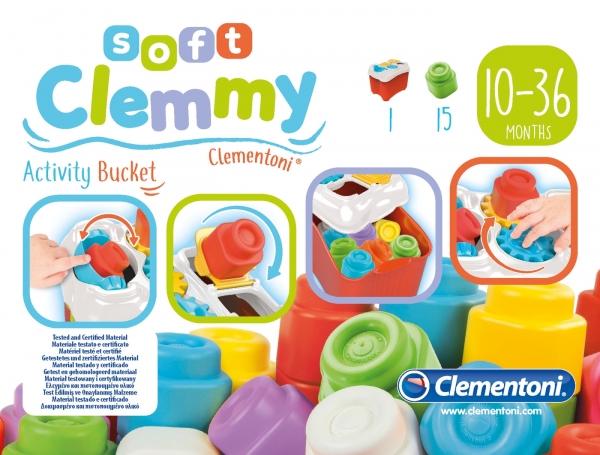 Klocki Soft Clemmy: Wiaderko aktywności (17171)
