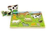 Farma zwierząt: puzzle stojące, drewniane (E1450)