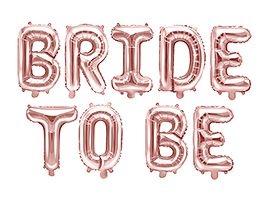 Balon foliowy Partydeco Bride to be, 340x35cm, różowe złoto (FB35M-019R)