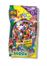 Koraliki do prasowanek 3000 sztuk kolory podstawowe (00771)