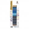 Ołówki grafitowe trójkątne z gumką HB, 4 szt. - Real Madrid (206018001)