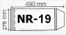 OKLADKI NA PODRECZNIK A4 REGULOWANE NR.19 - 275mm OPAKOWANIE 50 SZT