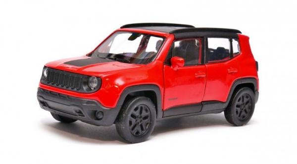 Model kolekcjonerski Jeep Renegade Trailhawk czerwony (24071-1)
