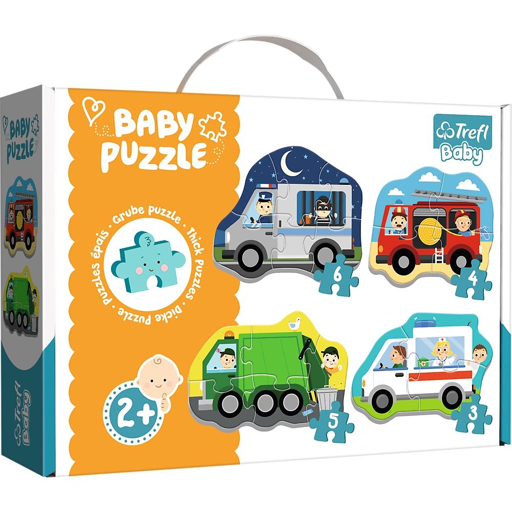 Puzzle Baby Classic 4w1: Pojazdy i zawody (36071)