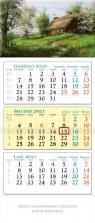 Kalendarz 2021 trójdzielny KT12 Chatka