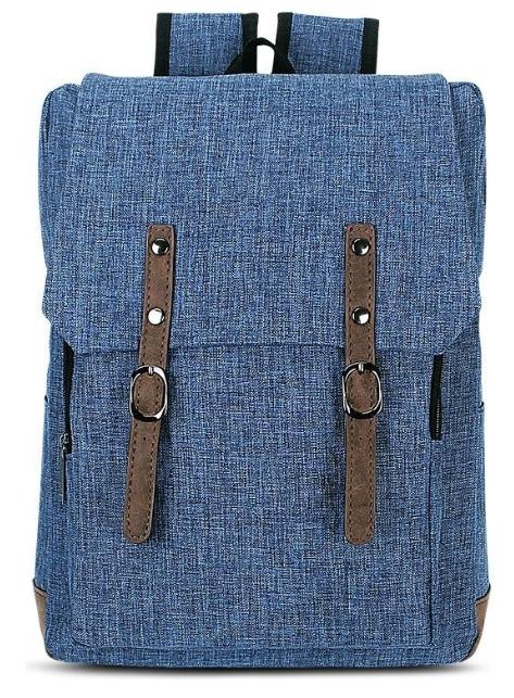 Plecak młodzieżowy z klapą niebieski Basic (607571)