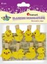 Ozdoba drewniana Titanum Craft-fun klamerki Kurczaczki, kaczuszki żółto-pomarańczowy 8 szt