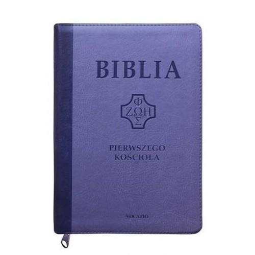 Biblia Pierwszego Kościoła fioletowa z paginatorami i suwakiem