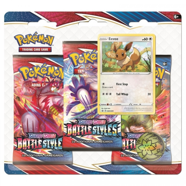 Karty Battle Styles 3-pack Blister - Eevee (80822/8227A)
