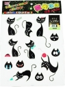 Naklejki ścienne - koty fluorescencyjne
