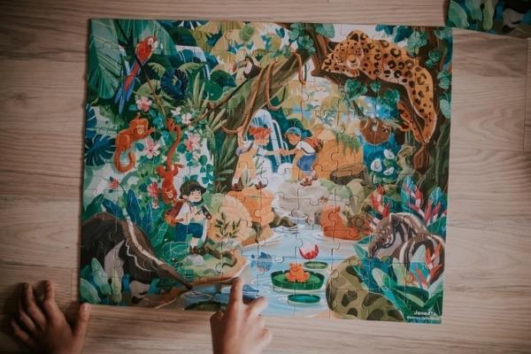 Puzzle w walizce 100: Przygoda w kraju Inków (J02671)