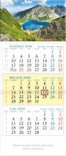 Kalendarz 2019 Trójdzielny Czarny Staw KT1
