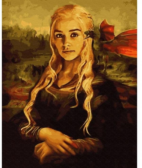 Obraz Malowanie po numerach - Gra o tron - Daenerys ze smokiem (GX33799)