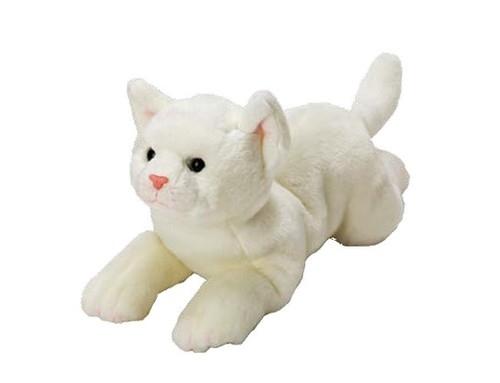 Kot Biały 35 cm leżący (12071)