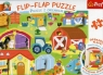Flip-Flap Puzzle z okienkiem 36 Na farmie (14271)