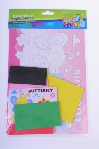 Ozdoba dekoracyjna piankowa samoprzylepna motyl