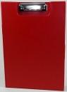 Deska A4 PVC z klipem i okładką czerwona D.RECT