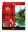 Kredki Mondeluz 36 kolorów + 2 pędzelki + temperówka (3712)
