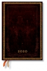 Kalendarz 2020 książkowy Midi Horizontal Black Moroccan 12m
