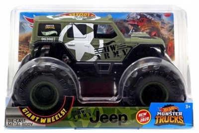 Hot Wheels Monster Truck Army Jeep