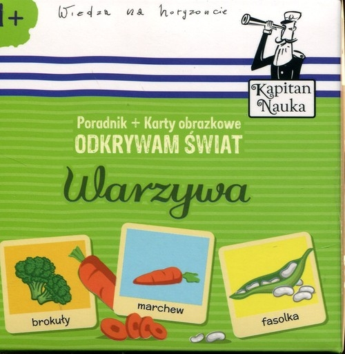 Kapitan Nauka. Odkrywam świat - Warzywa (Poradnik + karty obrazkowe) Minge Natalia, Minge Krzysztof