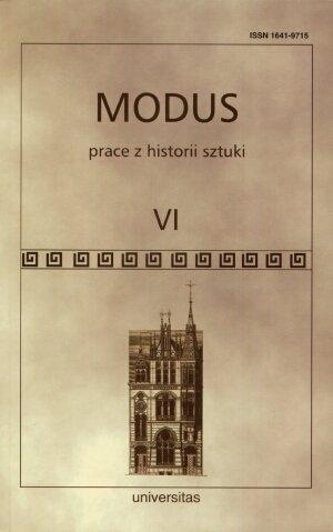 Modus. Prace z historii sztuki t. VI praca zbiorowa