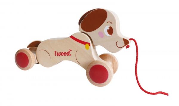 Pies do ciagnięcia na sznurku Drewniany (13004)