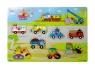Puzzle drewniane pojazdy