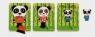 Puzzle warstwowe Rodzina pandy