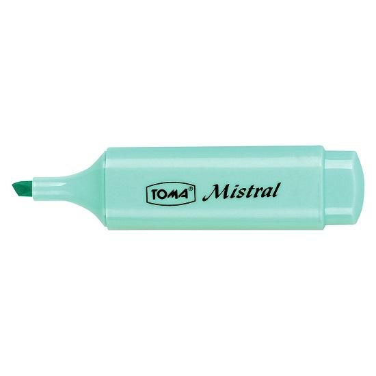 Zakreślacz TOMA Mistral TO-334 - pastelowy niebieski (TO-334 7 2)