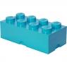 Pojemnik klocek LEGO® Brick 8 - Lazurowy (40041743)