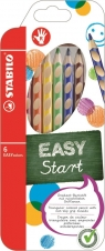 Kredki Stabilo Easycolors 6 kolorów + temperówka