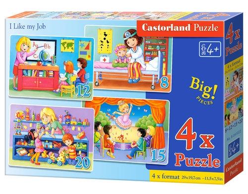 Puzzle 4x1 20 Like my Job
