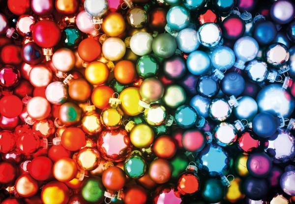 Puzzle 200 Kolorowe bombki bobmka na choinkę G3