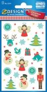 Naklejki świąteczne- aniołki, bałwanki