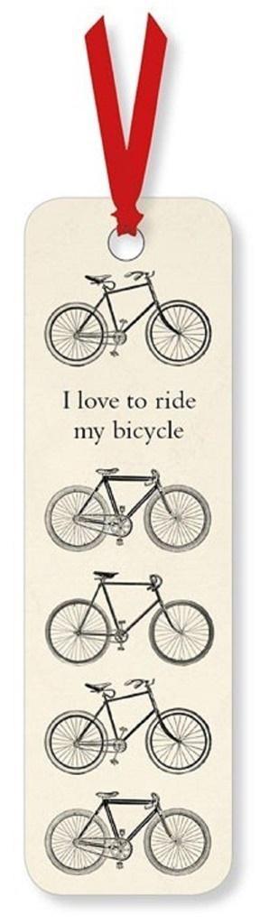Zakładka do książki I love to Ride my Bicycle