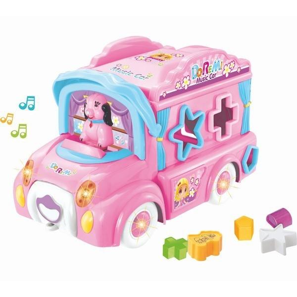 Muzyczny Autobus różowy sorter