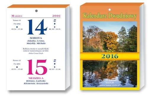Kalendarz 2016 KL 15 Kalendarz dwudniowy