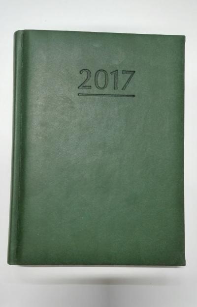 Kalendarz terminarz powszechny dzienny B6 2017 ZIELONY
