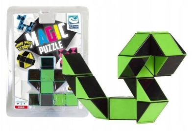 Clown Magic Puzzle magiczny wąż zielony 24 el