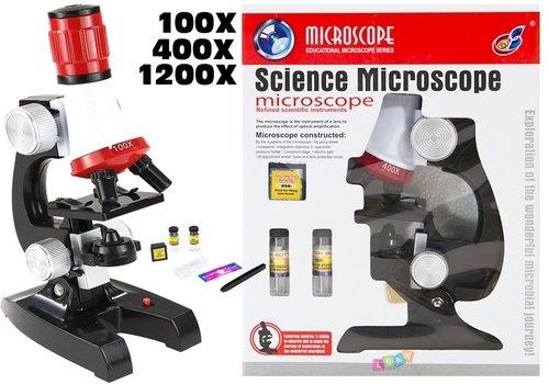 Duży Mikroskop Dla Małego Naukowca Na Baterie