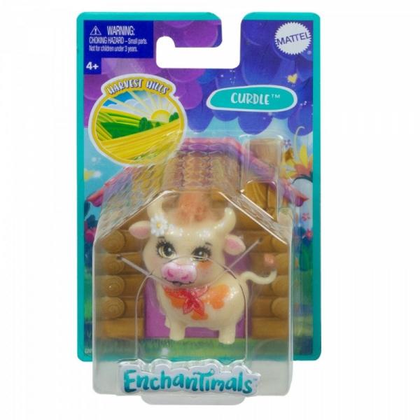 Figurka Enchantimals zwierzaki-ulubieńcy brokatowa Krówka (GJX24/GNY78)