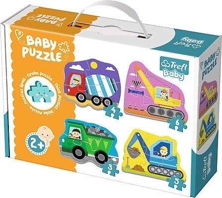 Puzzle Baby Classic 4w1: Pojazdy na budowie (36072)