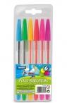 Długopisy fluorescencyjne 6 kolorów LAMBO (L319W6)