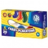 Farby szkolne Astrino 6 kolorów 20 ml ASTRA