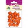 Pompony brokatowe, 15 szt. - pomarańczowe (338539)